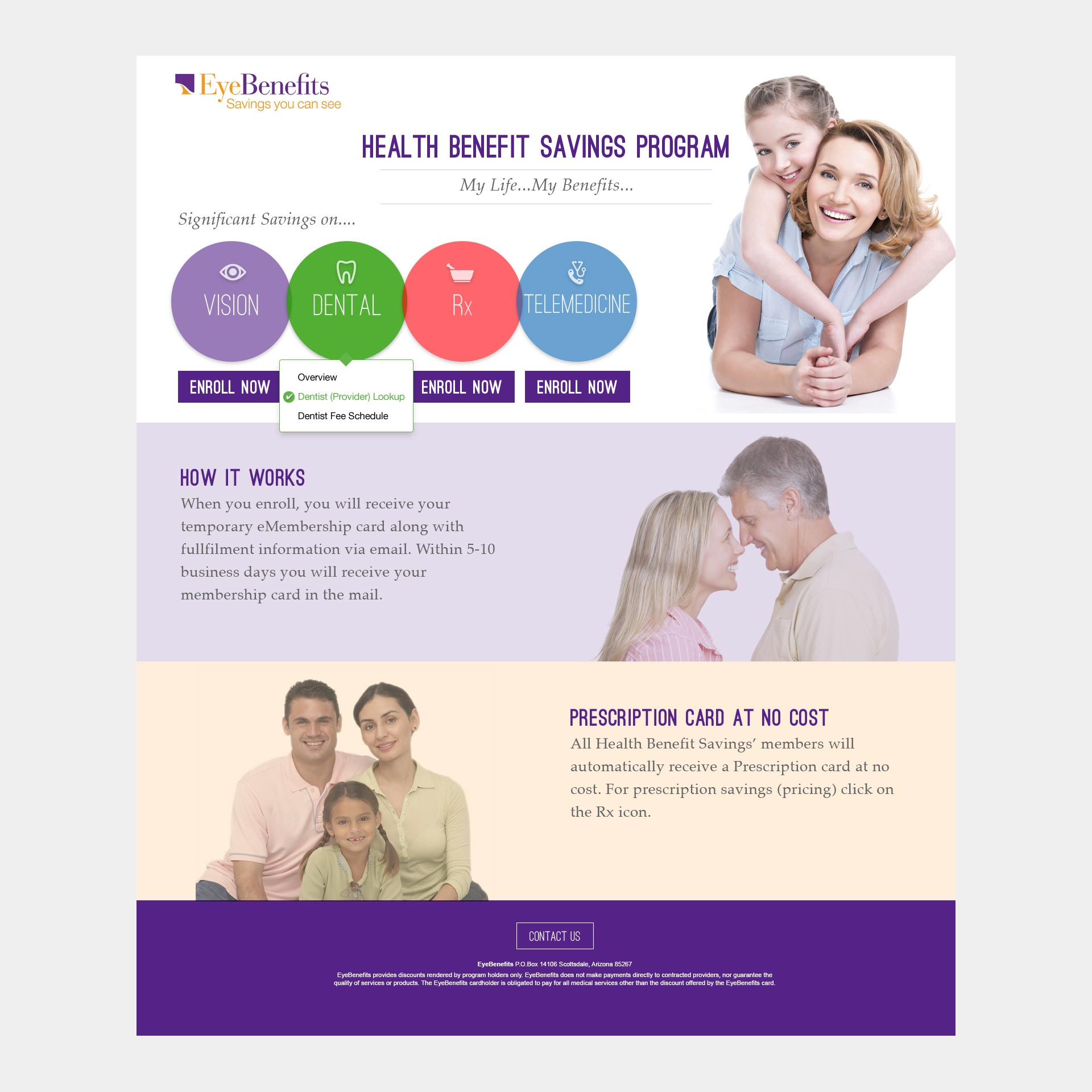 Medical Eye Care Business Landing Page Design image