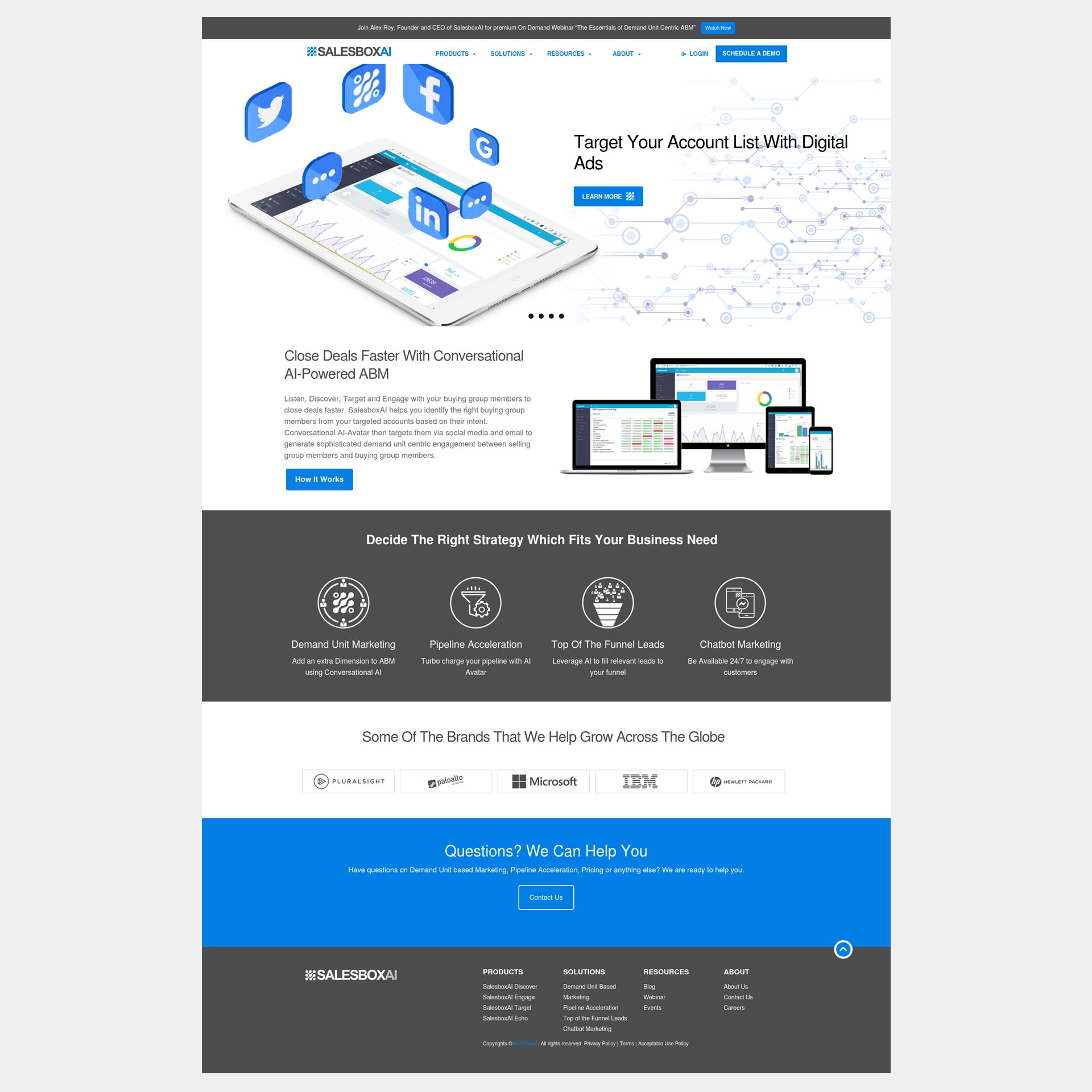 SAAS Enterprise Level Website image